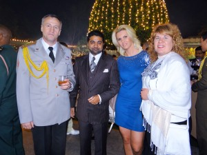 Anca and Abhishek with Ukraine Ambassador in India & his wife